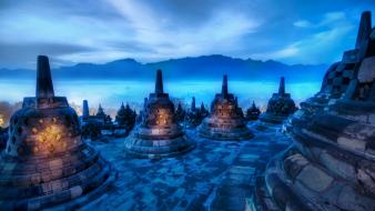 Blue indonesia hdr photography wallpaper