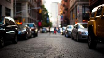Cars new york city cities lifestyle street Wallpaper