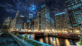 Cityscapes chicago glass cities downtown Wallpaper