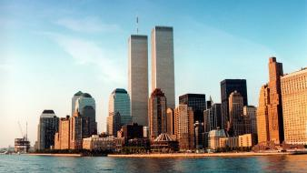 Cityscapes world trade center new york city 1996 wallpaper