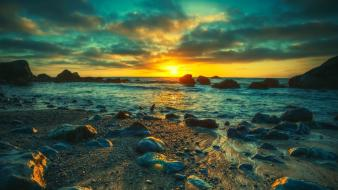 Clouds landscapes nature sun beach hdr photography Wallpaper