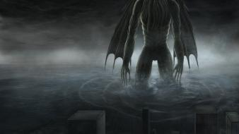 Cthulhu giant fantasy art creatures wallpaper