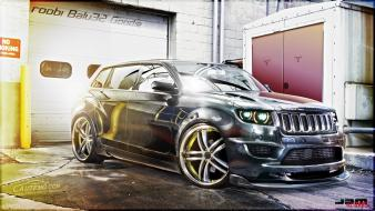 Digital art wheels garages grand cherokee jeep wallpaper