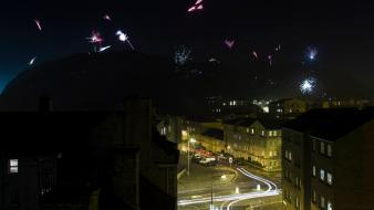 Fireworks edinburgh holyrood park wallpaper