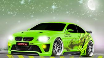 Green cars tuning ford mustang 3d m6 wallpaper