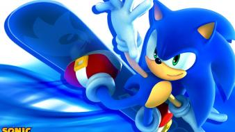Hedgehog video games snowboarding game characters team Wallpaper