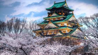 Japan sakura castle wallpaper