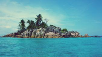 Landscapes nature islands palm trees wallpaper