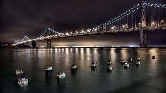 Landscapes nature lights bridges Wallpaper
