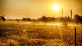 Light sunrise landscapes nature earth country shadows Wallpaper