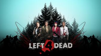 Louis left 4 dead zoey (left4dead) francis bill wallpaper