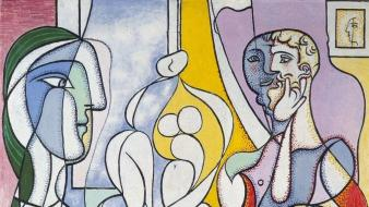 Men spanish artwork pablo picasso traditional art Wallpaper