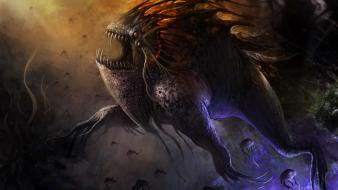 Monsters design giant fantasy art creatures game wallpaper