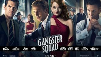 Movie posters josh brolin gangster squad (movie) wallpaper