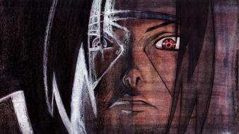 Naruto: shippuden uchiha itachi sharingan fan art wallpaper