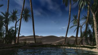 Nature palm trees digital blasphemy skyscapes lagune wallpaper