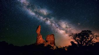 Night stars milky way wallpaper