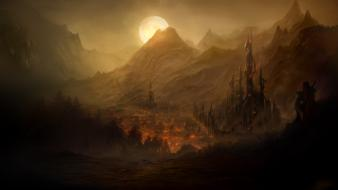 Paintings landscapes fantasy art digital airbrushed wallpaper