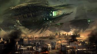 Resistance fantasy art spaceships wallpaper