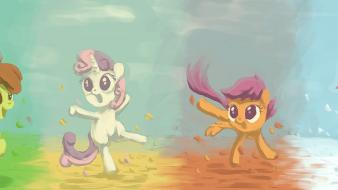 Scootaloo sweetie belle applebloom cutie mark crusaders wallpaper