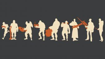 Silhouette team fortress 2 wallpaper