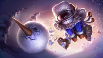 Snow league of legends snowmen ziggs Wallpaper