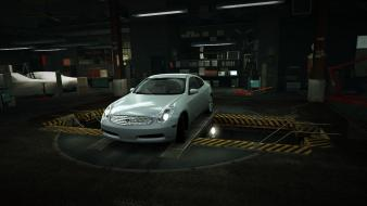 Speed silver infiniti g35 world garage nfs wallpaper