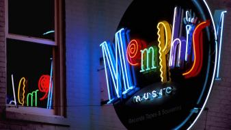 Streets tennessee memphis neon wallpaper