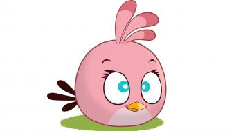 Video games angry birds rovio pink bird wallpaper