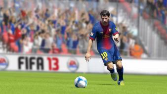 Video games fc barcelona fifa game football 13 wallpaper