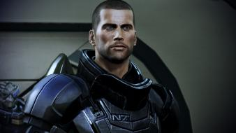 Video games mass effect commander shepard wallpaper