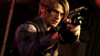 Video games resident evil leon target 6 wallpaper