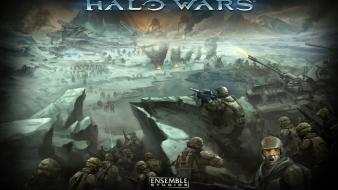 Video games spartan halo wars wallpaper