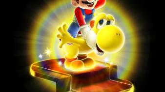Video games super mario yoshi artwork galaxy bulb wallpaper