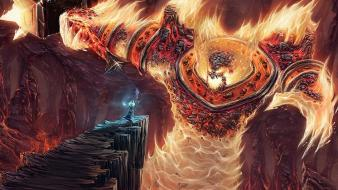 World of warcraft lava fantasy art ragnaros wallpaper