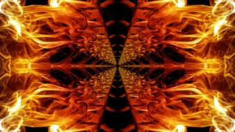 Abstract fire smoke symmetry wallpaper