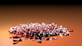 Abstract paper cinema 4d wallpaper