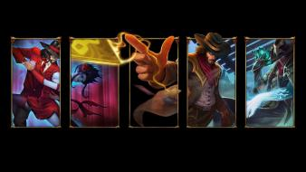 Artwork hats simple background black twisted fate Wallpaper
