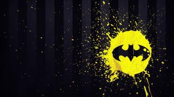 Batman dc comics stripes logo paint splatter wallpaper
