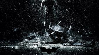 Batman movies rain the dark knight rises wallpaper