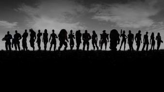Black and white mass effect band of brothers Wallpaper