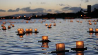 Boats depth of field sadness candles funeral Wallpaper