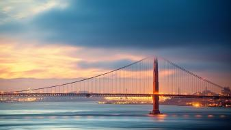 Bridges golden gate bridge san francisco rivers wallpaper
