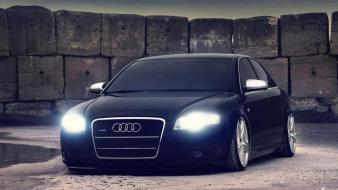 Cars audi vehicles black german wallpaper