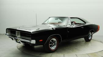 Cars dodge charger r/t black classic muscle car Wallpaper