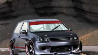 Cars golf tuning 3d wallpaper