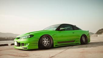 Cars nissan silvia s15 green jdm wallpaper