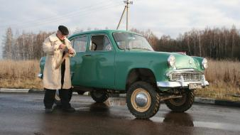 Cars old offroad moskvich russian wallpaper