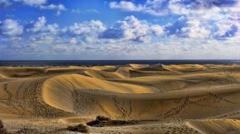 Clouds desert deviantart dunes skyscapes dune tracks wallpaper