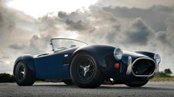 Clouds retro roads old cars shelby cobra Wallpaper